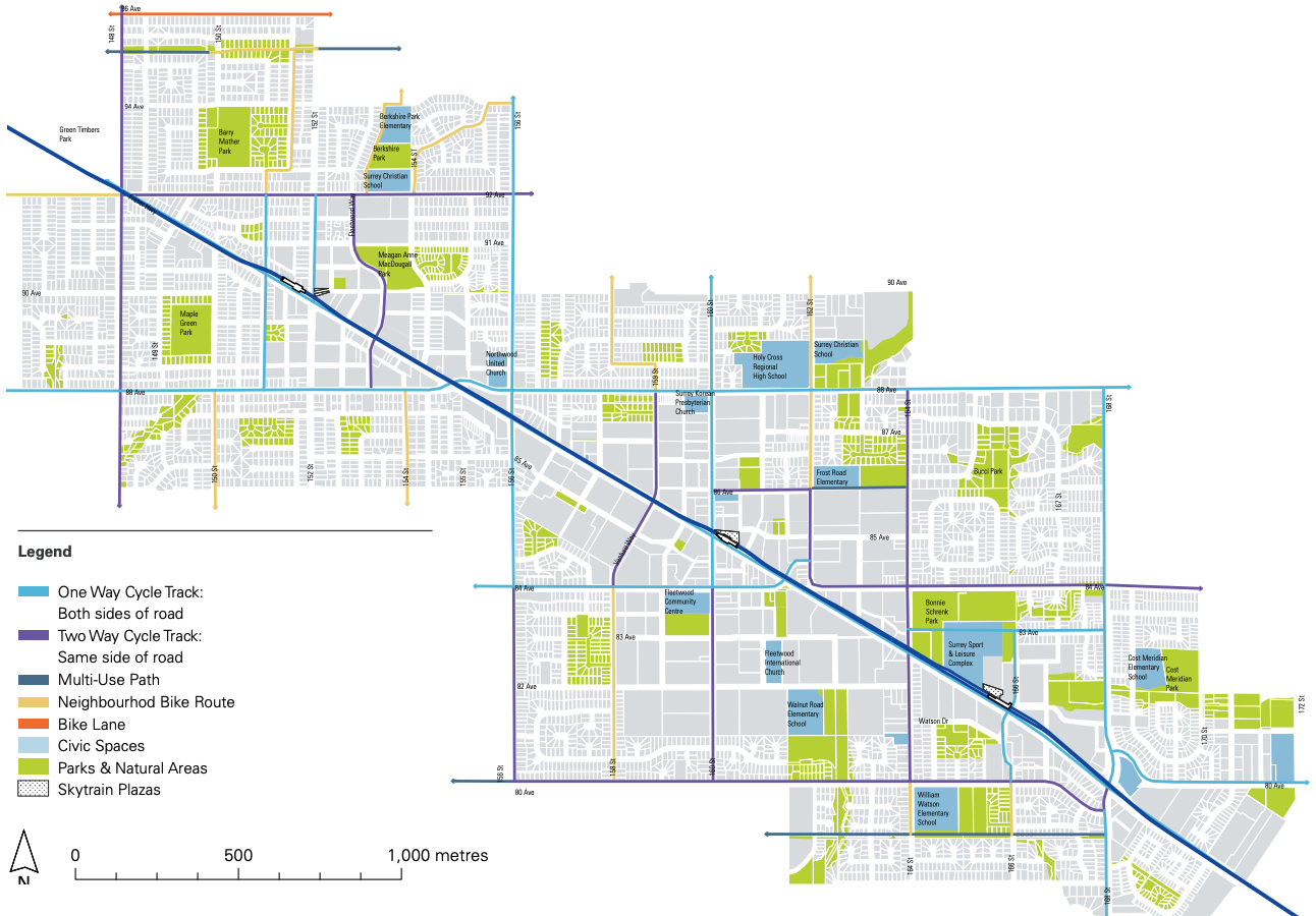 surrey fleetwood plan roads