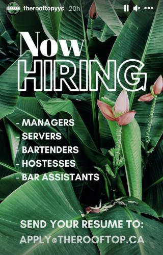 Calgary restaurants bars hiring