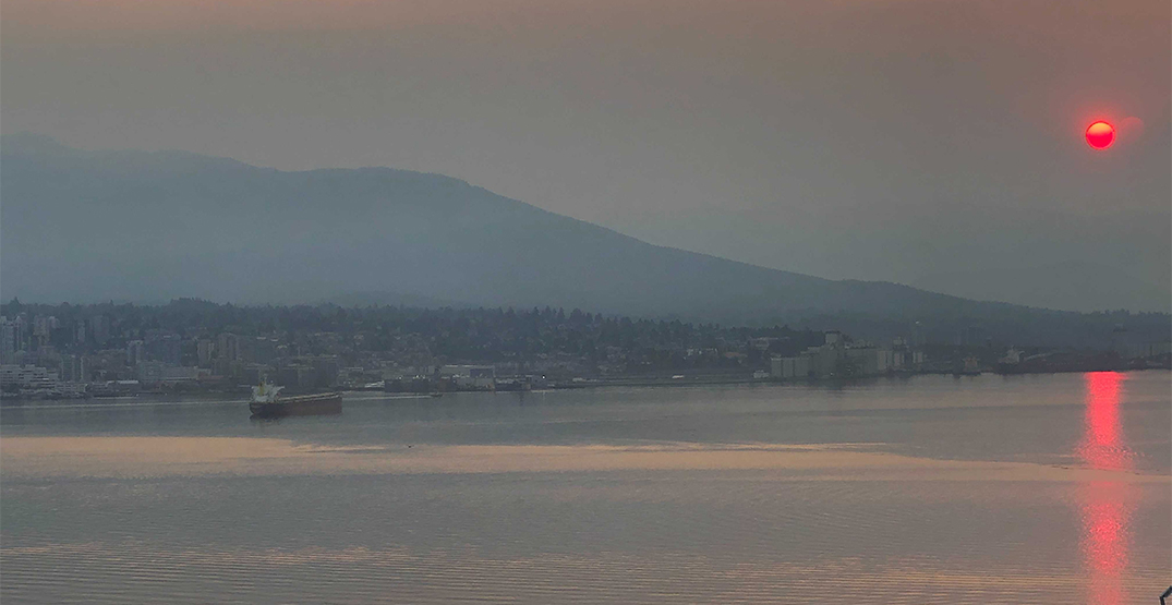 Wildfire smoke over Vancouver prompts air quality advisory