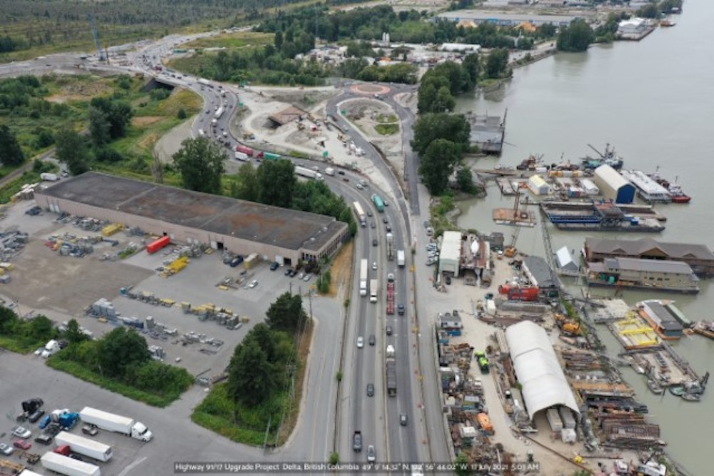 highway 17 river road interchange delta july 2021