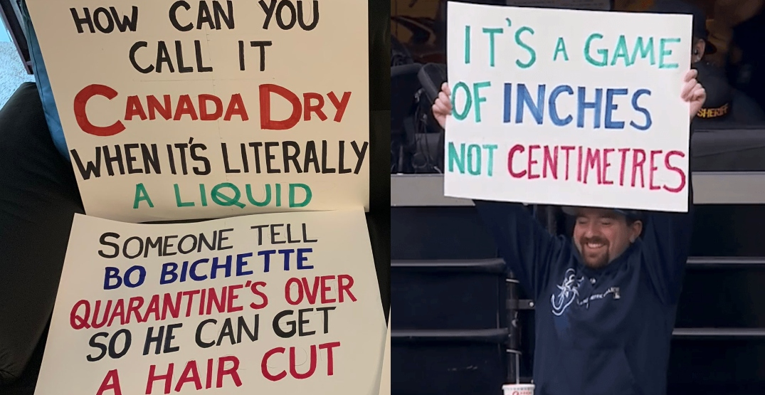 Mariners fan trolls Canada with clever signs at Blue Jays games in Seattle