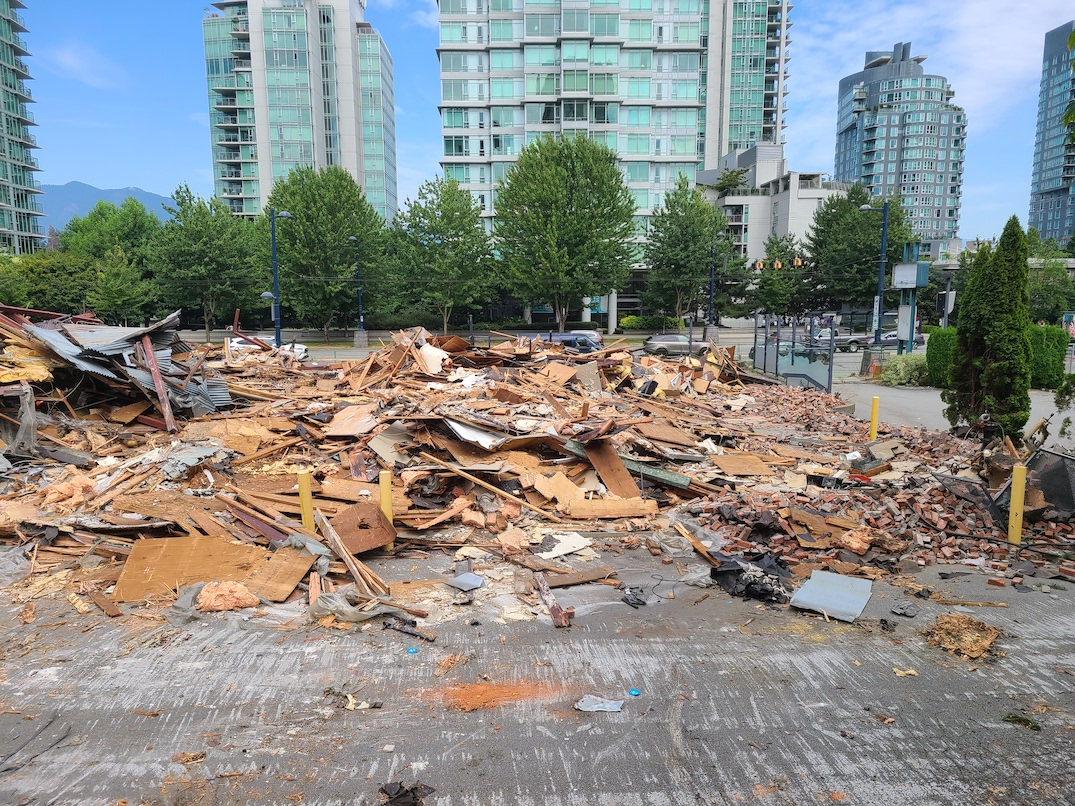 1616 West Georgia Street Vancouver White Spot Demolished August 15 2021