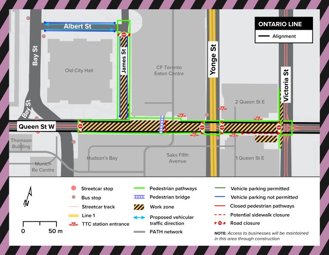 queen street closed construction