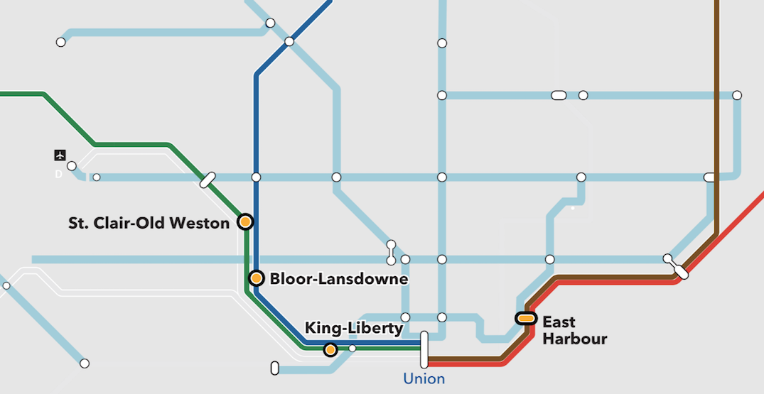 Toronto is getting five brand new GO stations by 2026