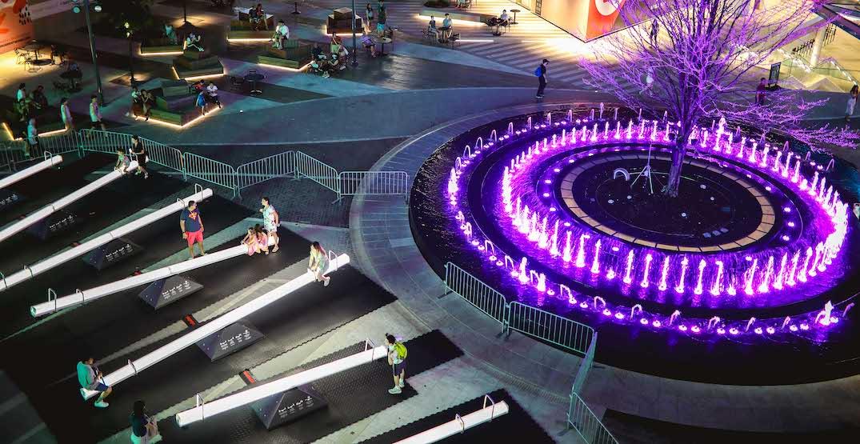 Illuminated Impulse seesaws added to The Amazing Brentwood plaza (PHOTOS)