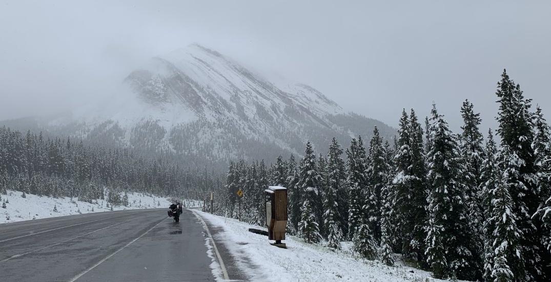 SNOW-WAY: Alberta's Kananaskis region just got some summer snow