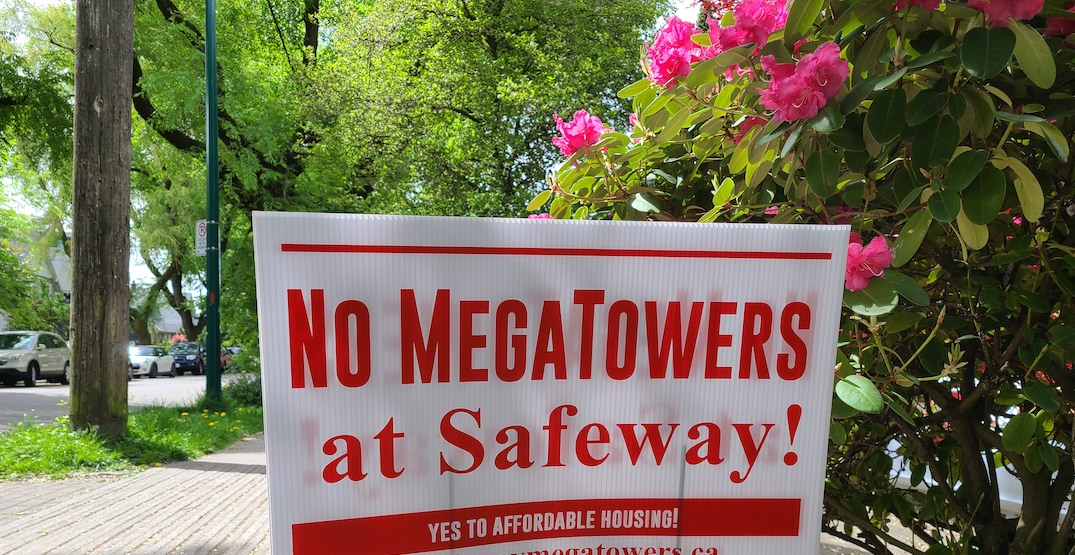 broadway commercial megatowers safety nimby sign