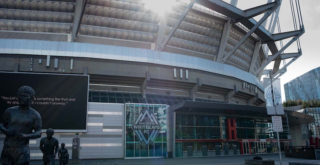 Pop-up vaccine clinics touch down outside Lions and Whitecaps games