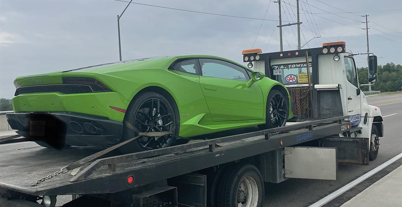 Driver caught speeding in rental Lamborghini lands $18,000 in fees