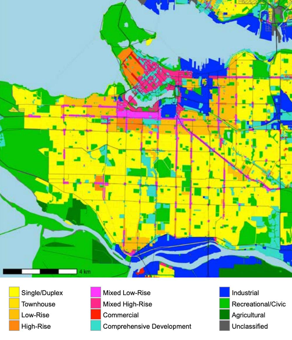 city of vancouver density land use map