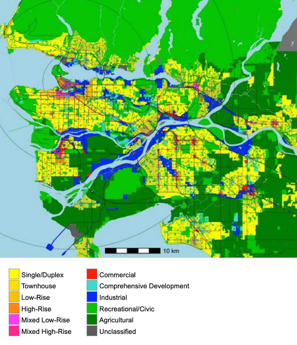 metro vancouver density land use map