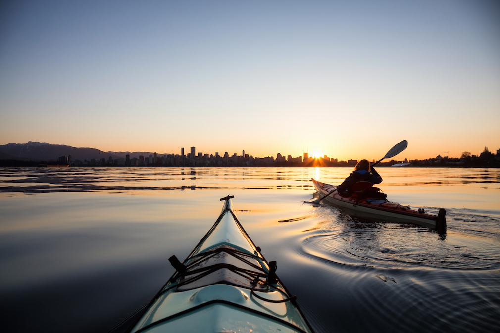 Kayaking near downtown