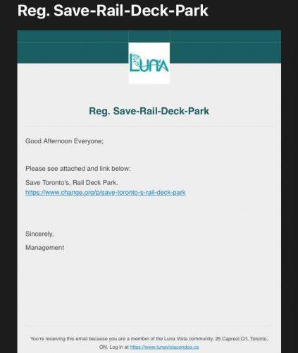 rail deck park petition