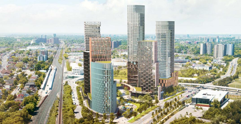 Seven-tower community planned around new Eglinton Crosstown station