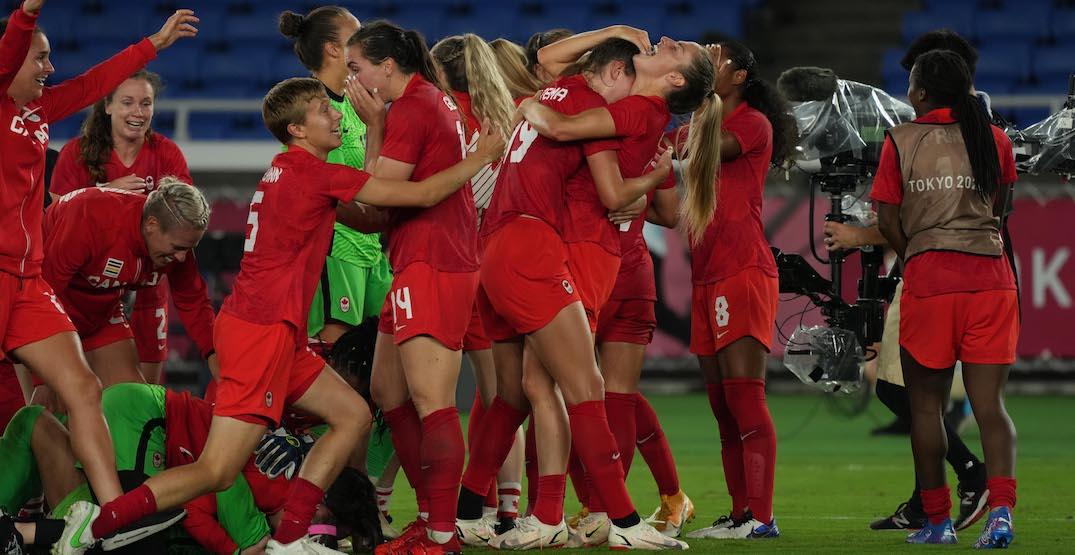 Canada moves up FIFA world rankings after Olympic women's soccer gold