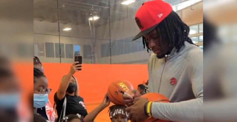 Precious Achiuwa still visits Miami back-to-school event despite trade to Raptors