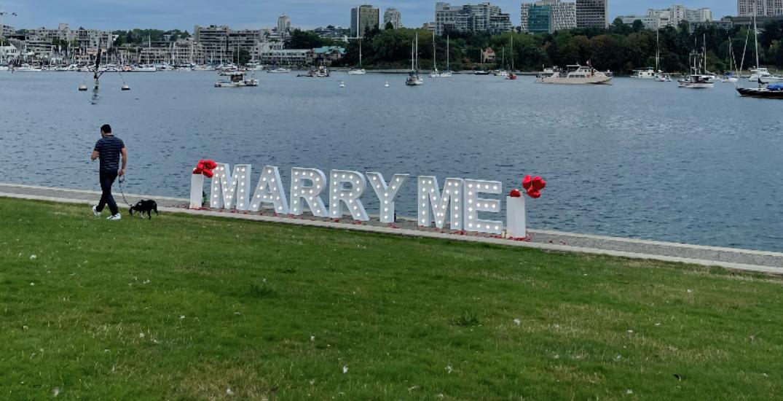 Onlookers capture adorable proposal in Vancouver park (PHOTOS/VIDEO)