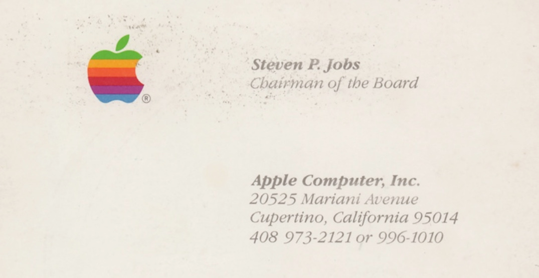 Vancouver printing company wins Steve Jobs business card in auction (PHOTOS)