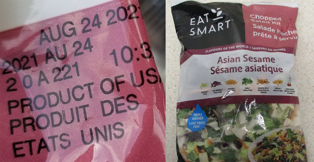 Salad kit sold in Canada recalled for possible Listeria contamination