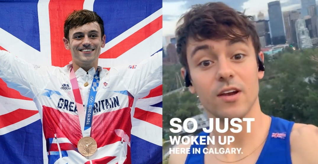British Olympic champ Tom Daley spotted at this Calgary landmark (PHOTOS)