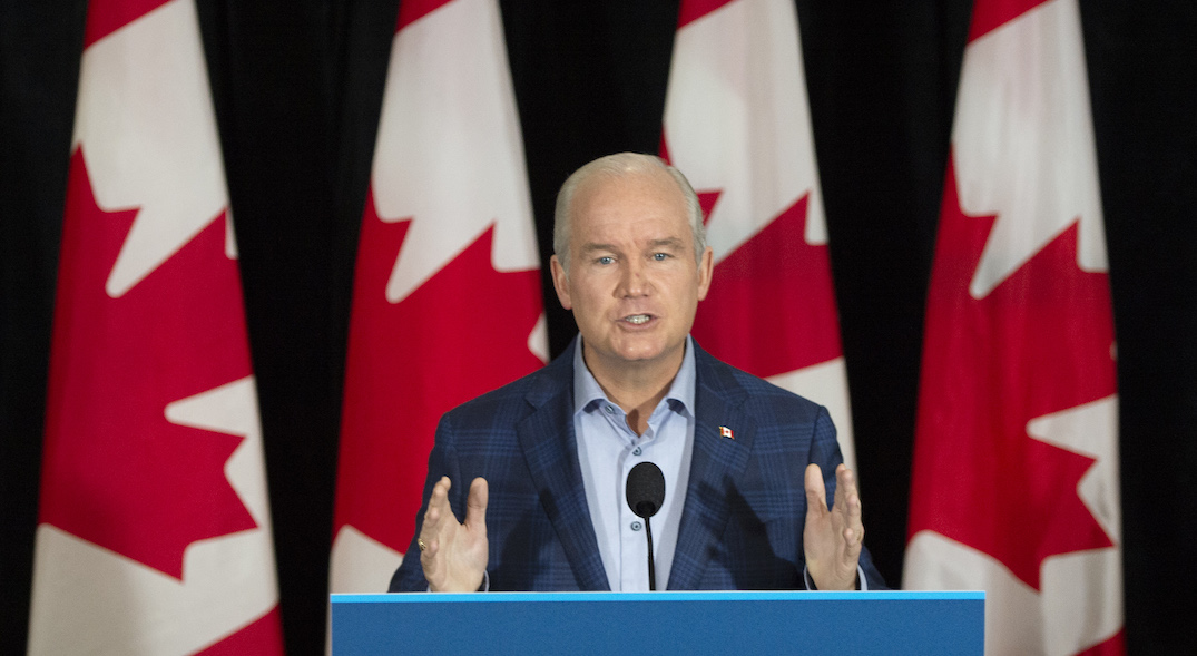 Conservative leader rejects Canada's new emissions target, favours previous goal