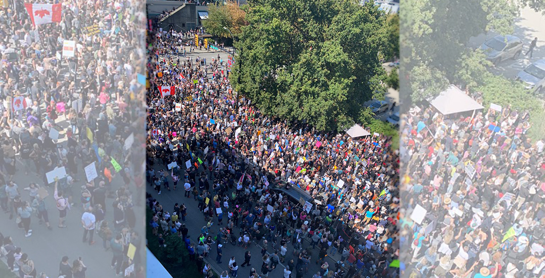 Hundreds of anti-vax protesters shut down traffic near Vancouver City Hall