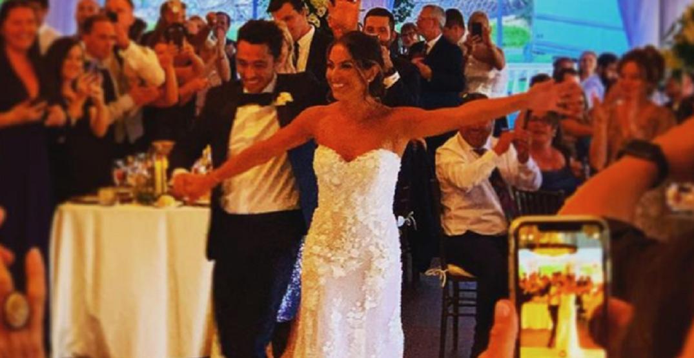 Flames' Johnny Gaudreau marries Meredith Morris in Philadelphia (PHOTOS)