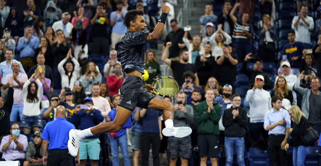 Canadian Félix Auger-Aliassime downs Frances Tiafoe to head to US Open quarterfinal