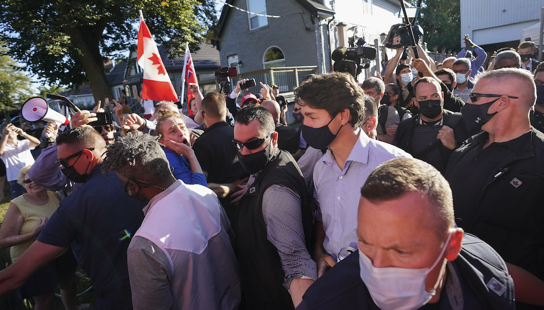 Trudeau says he won't bow to anti vaccine protests