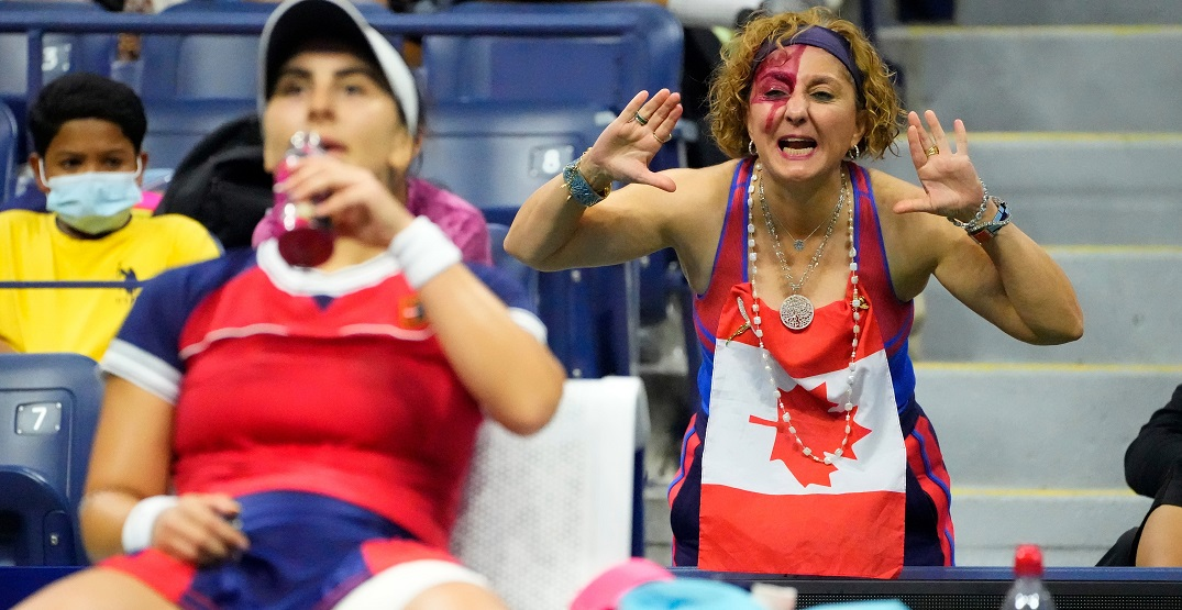 People loved this ultra-Canadian dancing tennis fan at the US Open