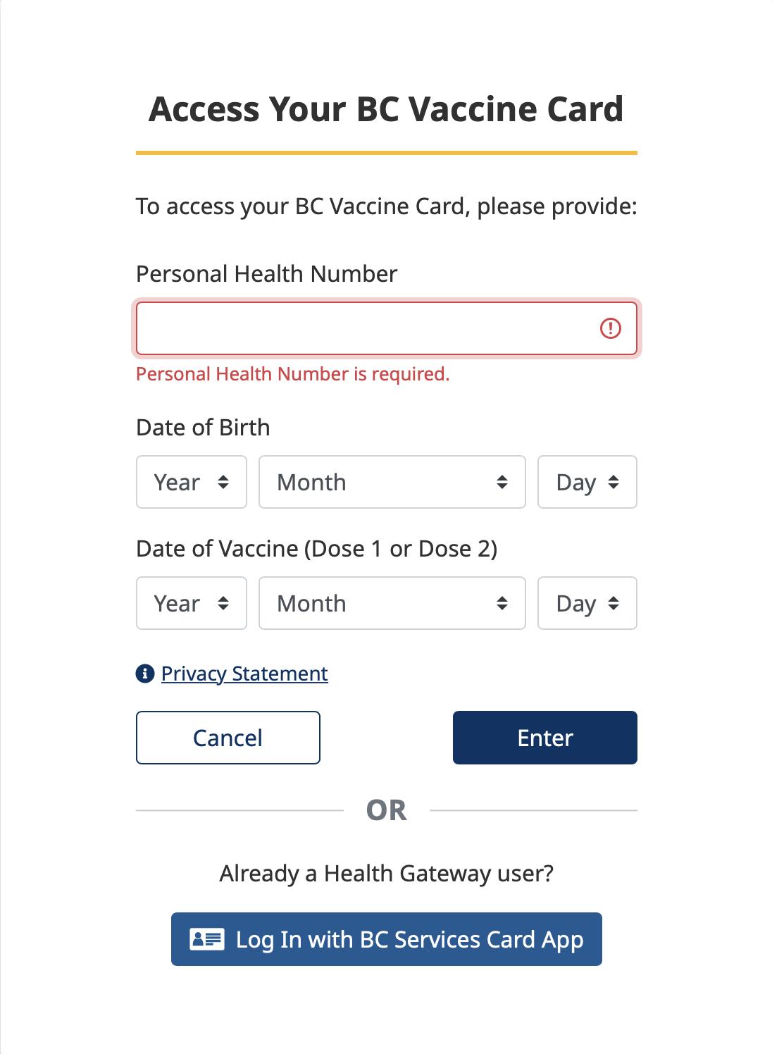 bc vaccination card