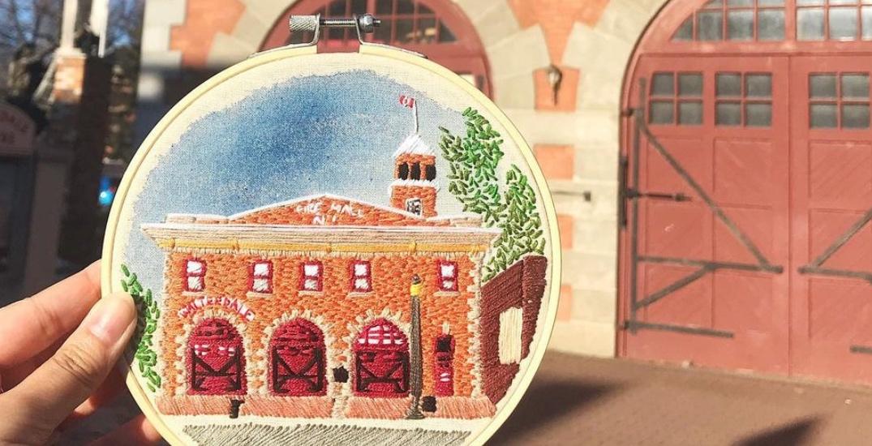 This local artist embroiders Edmonton landmarks we love (PHOTOS)