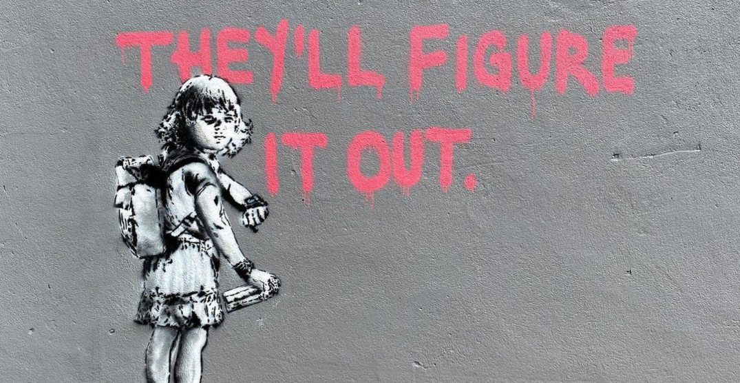 Street artist's new Banksy-style mural painting pops up in Montreal
