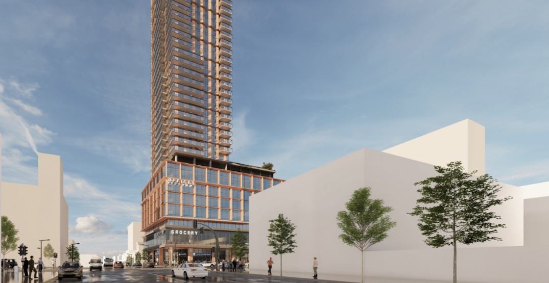 Broadway's tallest tower proposed above future South Granville Station (RENDERINGS)