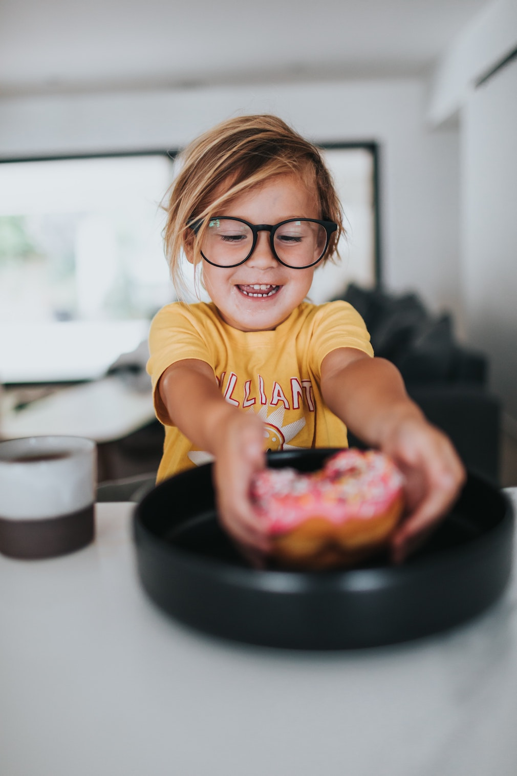 Happy child with glasses