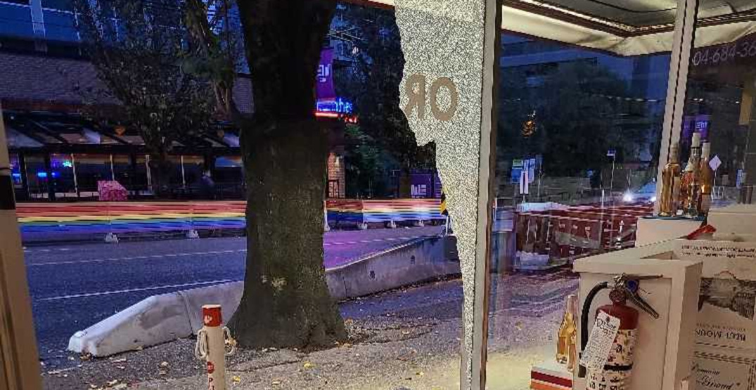 Windows smashed, storefronts vandalized in Vancouver's West End overnight