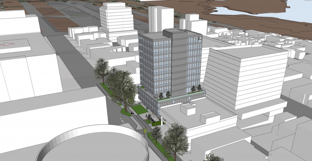 12-storey office building proposed next to Vancouver General Hospital