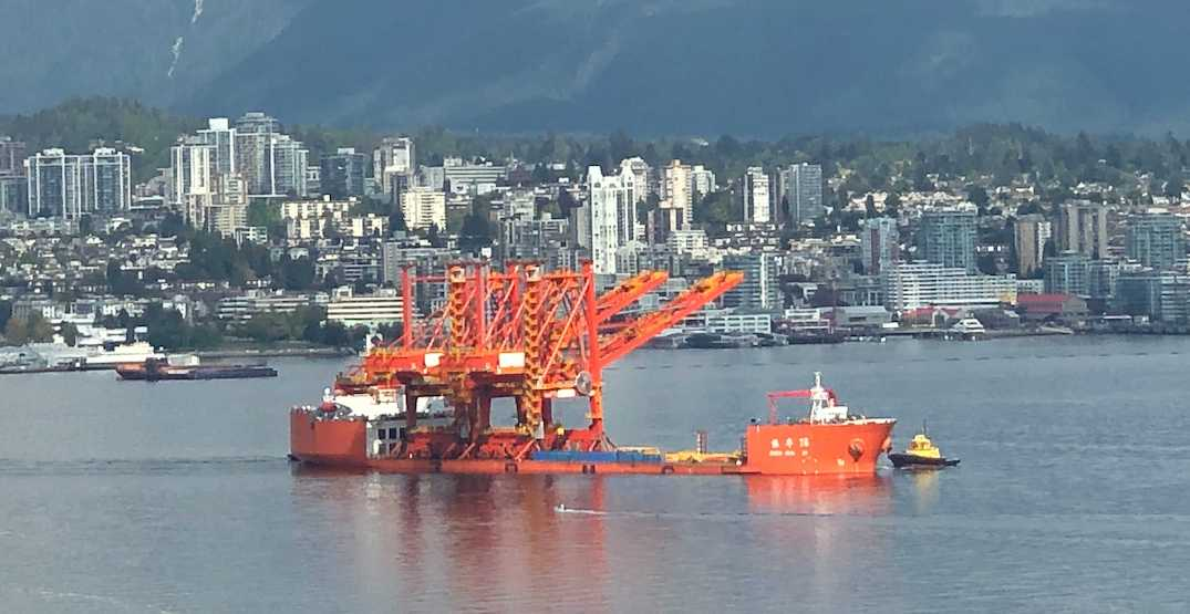 New giant cranes for the port arrive in Vancouver harbour (PHOTOS)