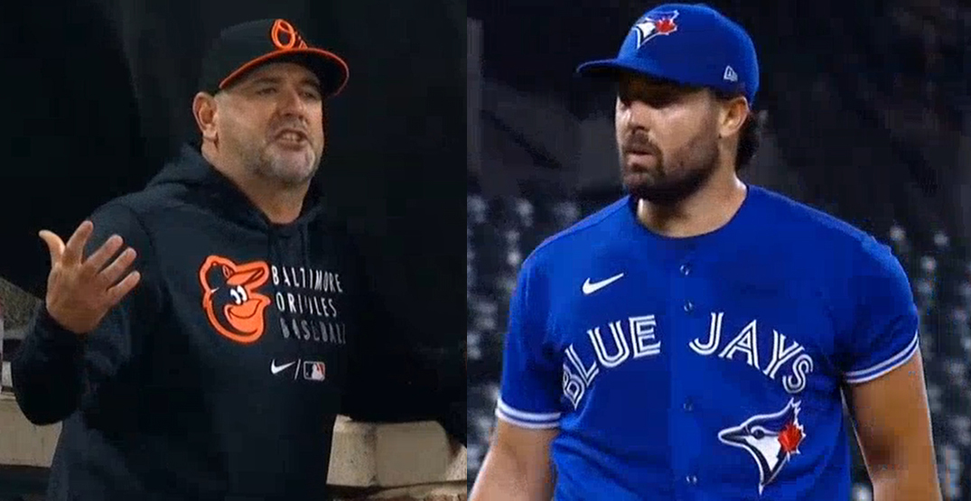 Orioles manager absolutely loses it on Blue Jays starter Robbie Ray (VIDEO)