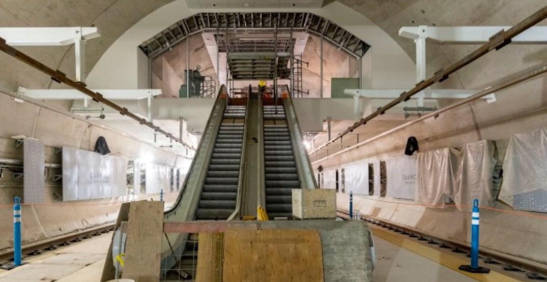 New Eglinton Crosstown LRT station built in an unusual shape