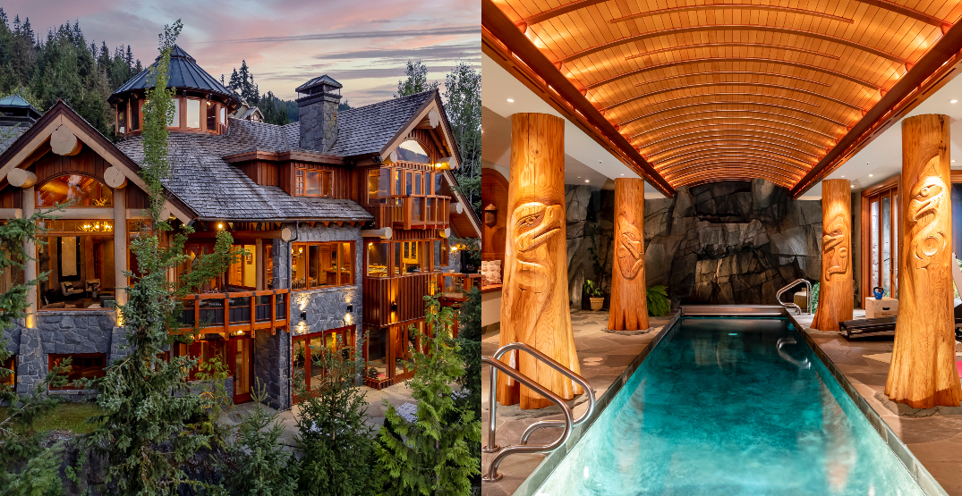 A look inside: $16M Whistler mansion features unique waterfall pool (PHOTOS)