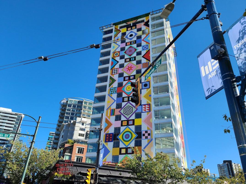 The Berkeley 1770 Davie Street Vancouver Douglas Coupland Mural September 2021