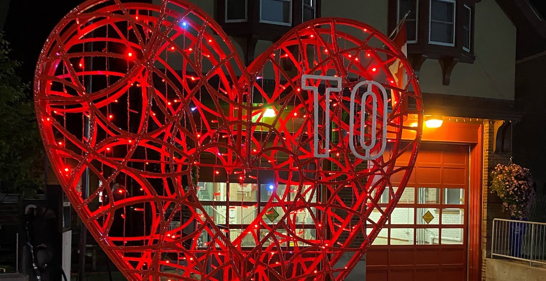 Here's why there are light-up red hearts all around Toronto