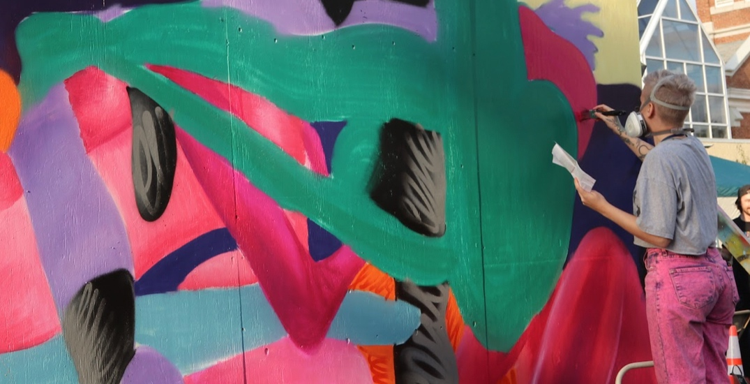 New murals are appearing in downtown Edmonton at this outdoor event