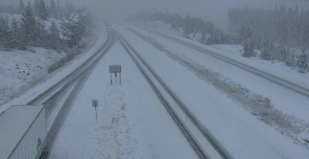 """BC highway """"skipped pumpkin spice"""" season after being hit with snow"""