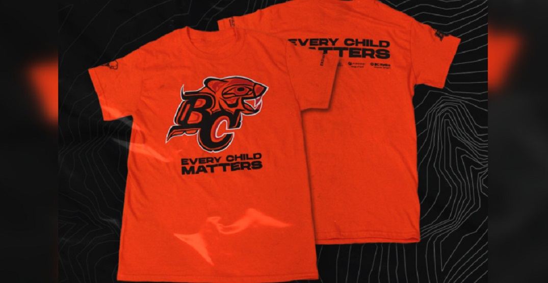 """BC Lions to give out 10,000 """"Every Child Matters"""" shirts at next home game"""