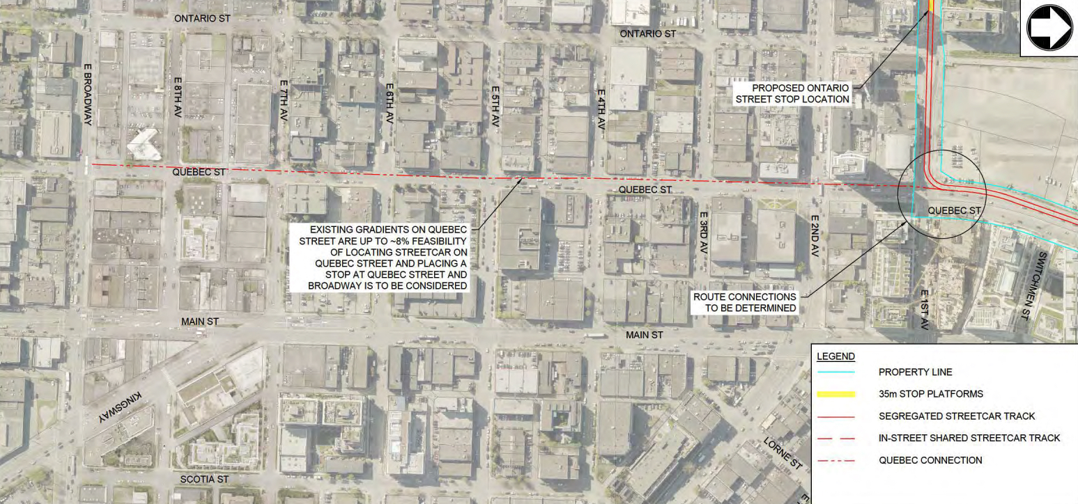 downtown vancouver false creek streetcar
