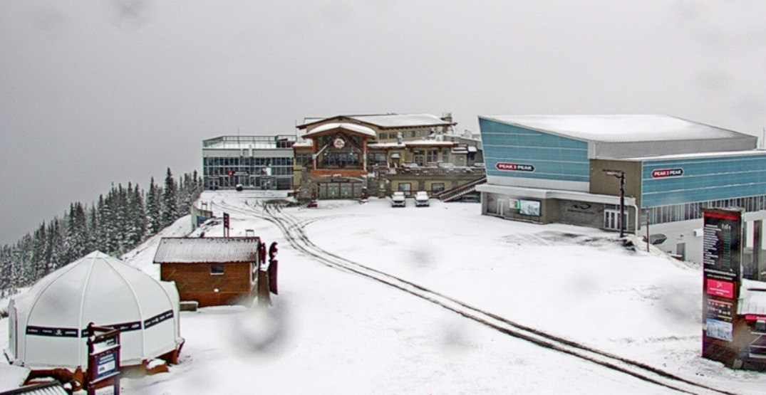 There's already snow at the top of Whistler Blackcomb (PHOTOS)