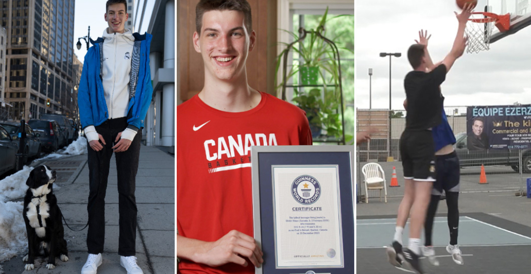 A Canadian teen is officially the tallest in the world