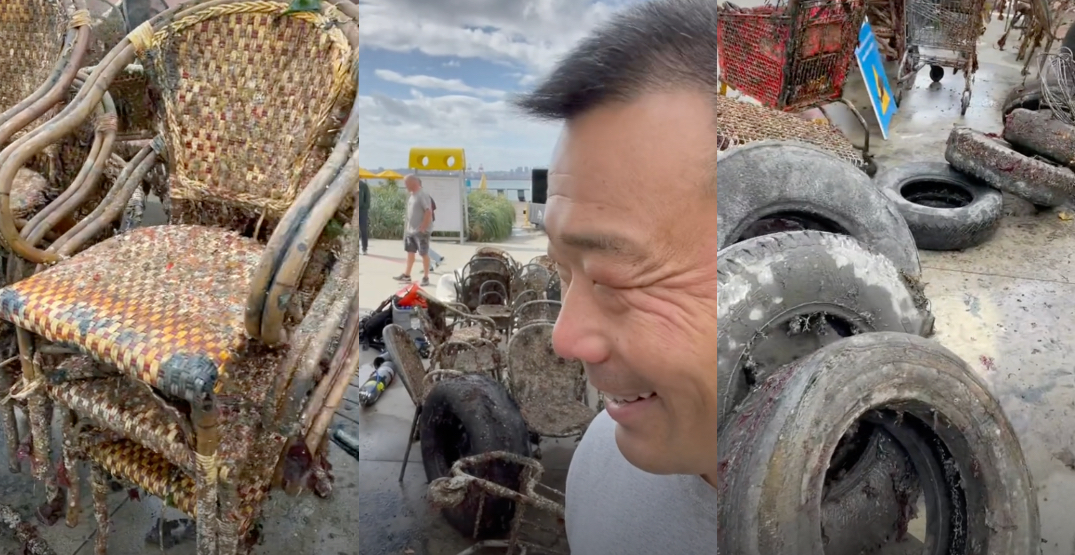 Divers pulled 1,362 lbs of trash out of Lonsdale Quay (VIDEO)